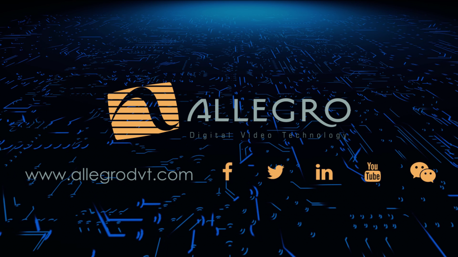 Allegro DVT is a leading provider of H.264/AVC, H.265/HEVC, AVS2, AVS3, VP9, AV1 and VVC compliance test suites and H.264/AVC, H.265/HEVC, VP9 and AV1 encoder, codec and decoder hardware (RTL) IPs